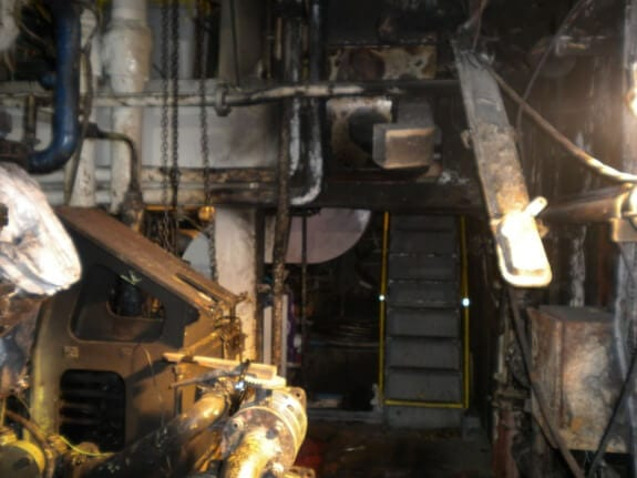 Fire in Engine Room