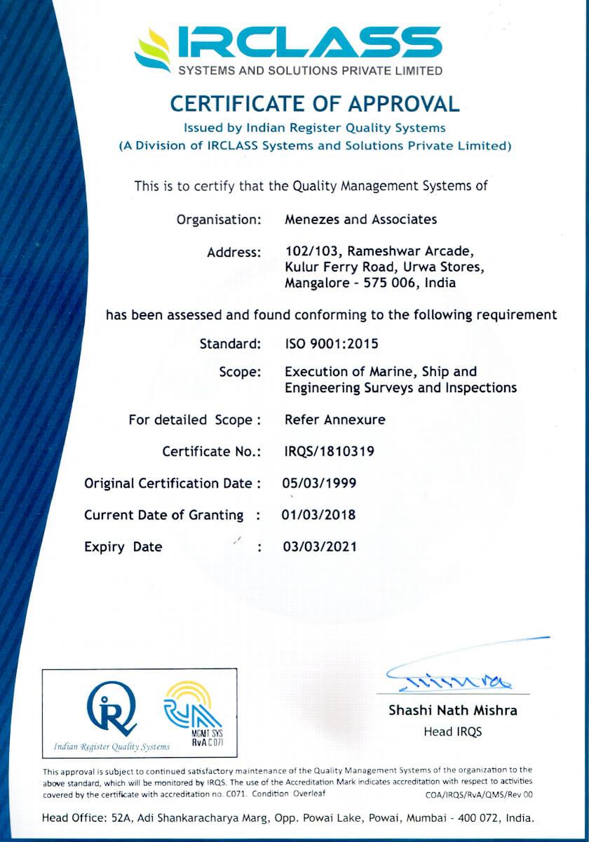 IRClass Certificate